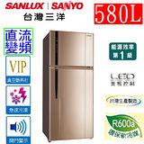 三洋 SANYO 580公升直流變頻雙門冰箱 SR-A580BV3