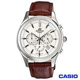 【CASIO卡西歐】復古簡約三眼皮帶腕錶 EFR-517L-7A