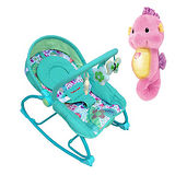Mother's Love 嬰兒震動搖椅+可愛費雪Fisher聲光安撫小海馬