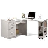 日式量販 多功能4尺白色移動書桌