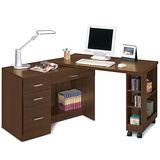 日式量販 多功能4尺胡桃移動書桌