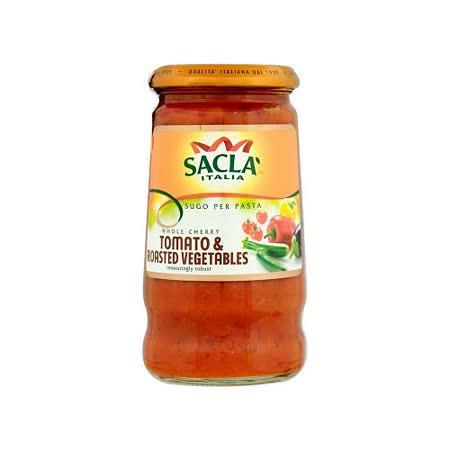 Sacla 烤蔬菜小番茄義大利麵醬350g