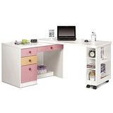 日式量販 變形機能4尺粉紅多功能書桌