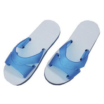 台灣製無毒橡膠H拖6275藍