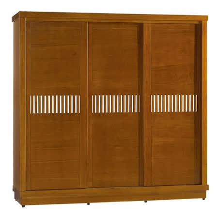 OZ 歐舒家居 Tyrande 7x7尺實木推門衣櫃