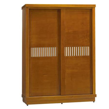 OZ 歐舒家居 Tyrande 5x7尺實木推門衣櫃