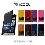 iCOOL HTC Desire 700 7060 開窗側翻可立皮套