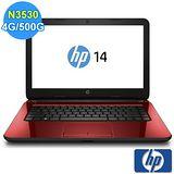 【HP】 14-r017TU N3530 鏡亮紅14吋家用筆記型電腦