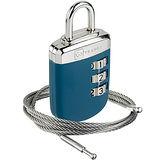 《GO TRAVEL》鋼繩密碼鎖(藍)