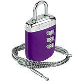 《GO TRAVEL》鋼繩密碼鎖(紫)