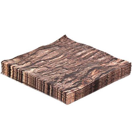《KIKKERLAND》仿木餐巾紙(黑樺)