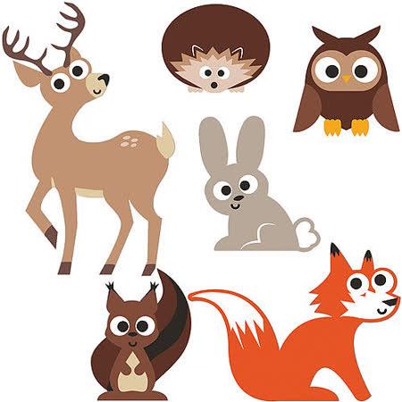 《KIKKERLAND》軟磁鐵6件組(鹿與好友)