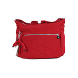 【Kipling】BASIC系列 比利時側口袋彎月斜背包 番茄紅 K-374-0623-153