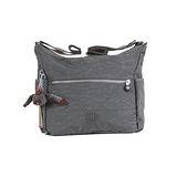 【Kipling】BASIC系列 比利時側口袋彎月斜背包 鐵灰 K-374-0623-845
