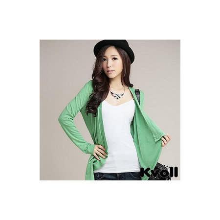 【KVOLL大尺碼】綠色收腰顯瘦大荷葉領外套
