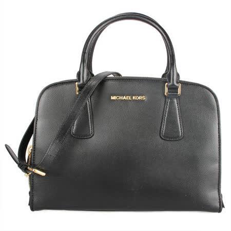 MICHAEL KORS 新款三層全皮革手提側背兩用托特包-黑色