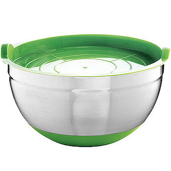 《MASTRAD》附蓋止滑打蛋盆(綠)