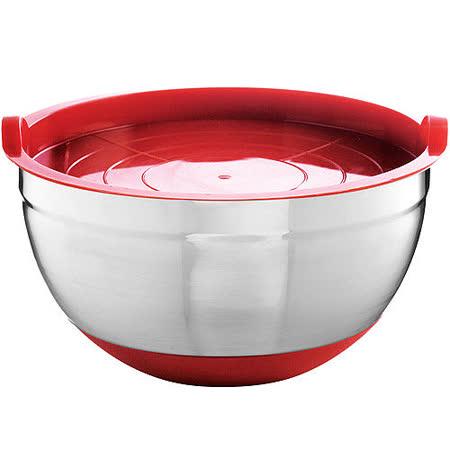 《MASTRAD》附蓋止滑打蛋盆(紅)