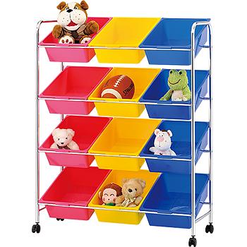 【ikloo】可移式12格玩具收納組