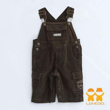 【LOVEDO-艾唯多童裝】活潑俏皮休閒版型 吊帶褲(墨綠)