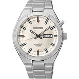 SEIKO Kinetic 極地傳說霸氣人動電能腕錶-銀 5M83-0AB0S