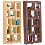 【幸福屋】Oswald 3x7尺栓木本色開放書櫃-兩色可選