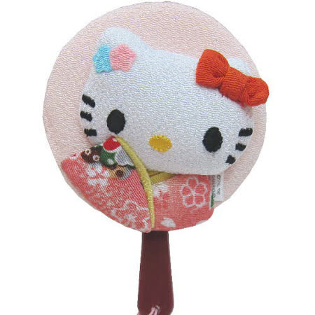 Hello kitty 凱蒂貓◇造型吊飾◇《和服扇子舞》