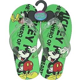【波克貓哈日網】迪士尼卡通風◇人字拖沙灘鞋◇《米奇綠色》