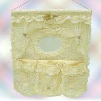 【波克貓哈日網】維多利亞風◇牆面收納袋◇《玫瑰蕾絲造型》