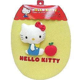【波克貓哈日網】Hello kitty 凱蒂貓◇馬桶蓋裝飾組◇《蘋果造型》