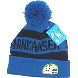 兒童保暖毛線帽◇新幹線圖案◇《藍色》