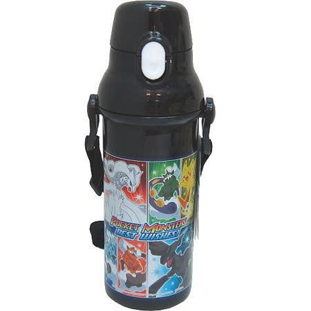 【原裝進口】神奇寶貝卡通水壺(黑色)480ml