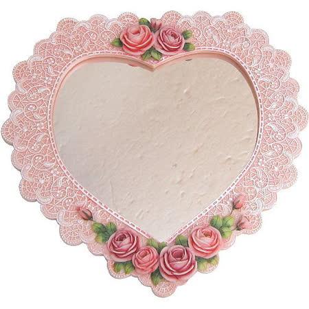 維多利亞風◇心形造型掛鏡◇《玫瑰花造型》
