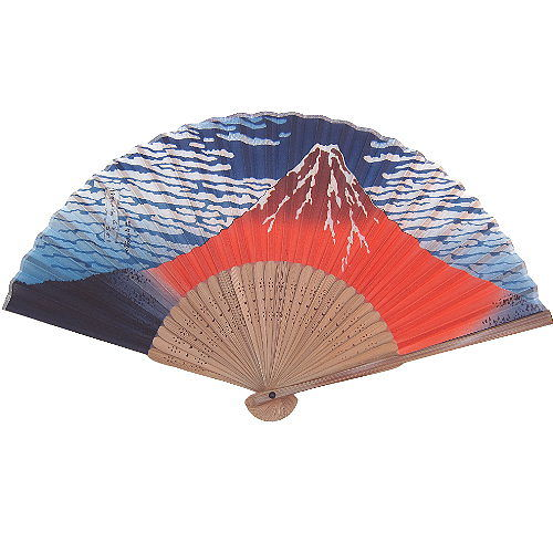 【波克猫哈日网】日本和风手拿扇子◇凉风御扇子◇《富士山图案》