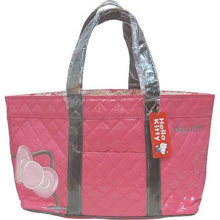 【波克貓哈日網】Hello Kitty 凱蒂貓◇馬卡龍漆皮包◇《粉紅色菱格紋》