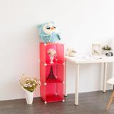 【ikloo】3格收納櫃-12吋收納櫃/整理收納組合櫃