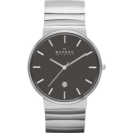 SKAGEN 經典系列 極簡時尚腕錶-黑x銀 SKW6109