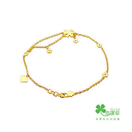 MANSTYLE 舞動奇蹟黃金腳鍊 (約2.03錢) (幸運草金飾出品)