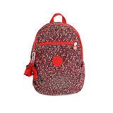 【Kipling】比利時品牌 雞蛋造型後背包 赤紅蛇紋 K-374-5016-055