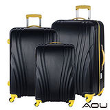 AOU微笑旅行 尊龍傳說 28吋24吋20吋 超大容量防刮超輕量行李箱(黑酷亮黃)90-015ABC