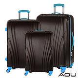 AOU微笑旅行 尊龍傳說 28吋24吋20吋 超大容量防刮超輕量行李箱(黑酷天藍)90-015ABC