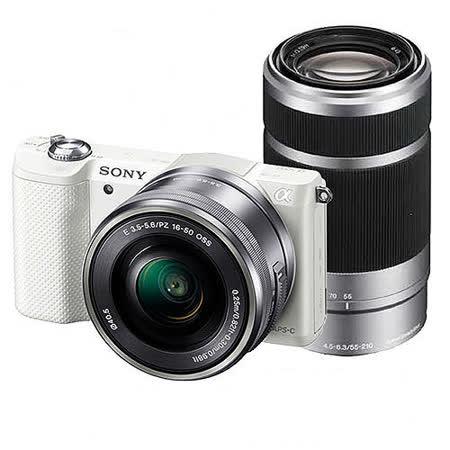 SONY A5100Y 16-50+55-210mm雙鏡(公司貨).-送原廠鋰電池+32GC10卡+相機包+座充+吹球+拭筆+拭布+保護貼+保護鏡(40.5)+讀卡機+HDMI線
