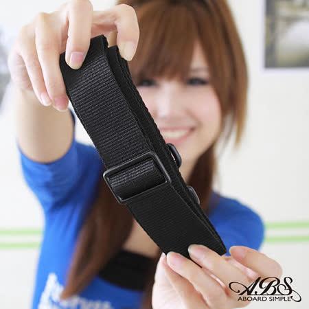 ABS愛貝斯 輕量都會商務活動式強化耐重背帶(典雅黑) 03-007