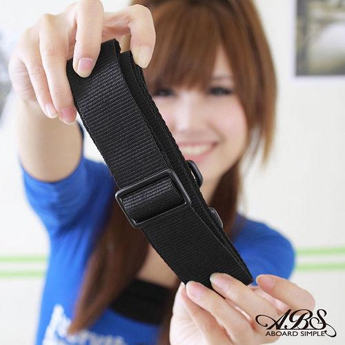ABS愛貝斯 輕量都會商務活動式強化耐重背帶^(典雅黑^) 03~007