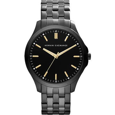 A│X Armani Exchange 雅痞時尚風格腕錶-黑 AX2144