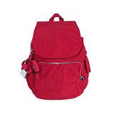 【Kipling】BASIC系列 前方口袋蓋式後背包 番茄紅 K-374-2147-153