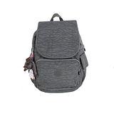 【Kipling】BASIC系列 前方口袋蓋式後背包 鐵灰 K-374-2147-845