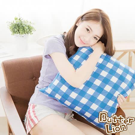 台灣製造-100%精梳純棉方型抱枕布套