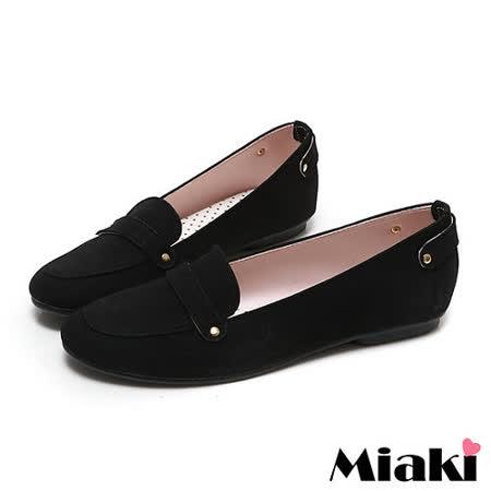 (現貨+預購) 【Miaki】MIT 百搭經典素面平底包鞋懶人鞋休閒鞋 (黑色)