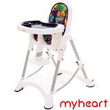 【myheart】 折疊式兒童安全餐椅 - 卡通藍